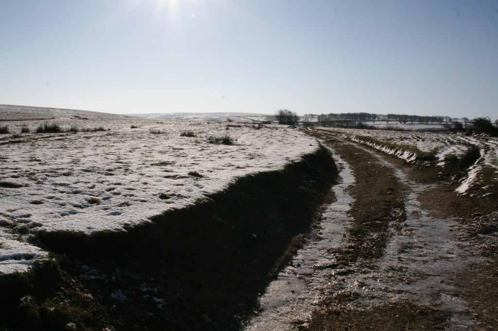 Heading over the moor to The Exmoor Centre in winter