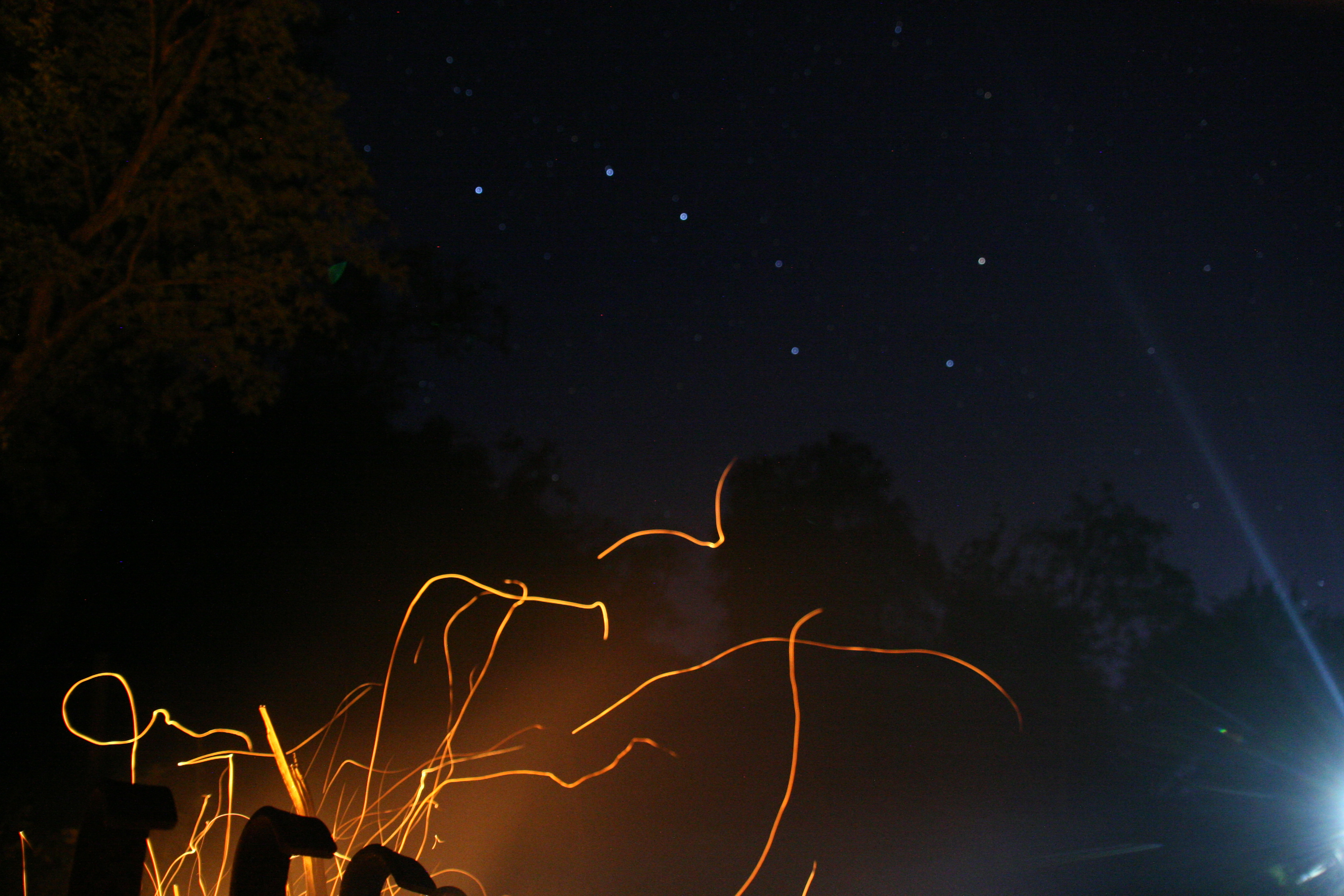 The Plough and campfire spark trails over The Exmoor Centre